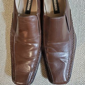 Madden Men's Brown Leather Shoes, Size 10